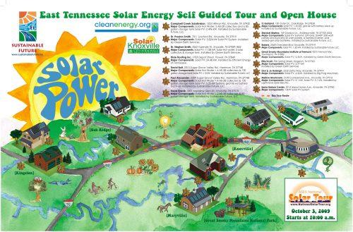 Solar Tour map 2009